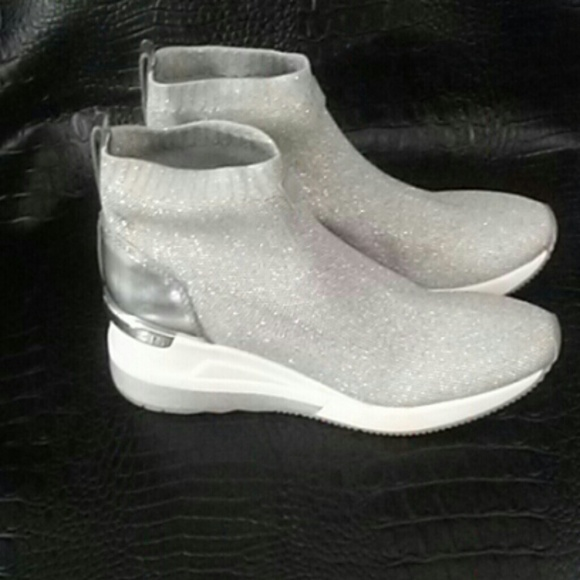 Michael Kors Shoes - ~Price Firm ~ Michael Kors Glitter Sneakers NWOB